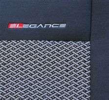 Autopotahy Peugeot Partner II 2+1,šité na míru od r. 2008, šedo černé LUX STYLE Vyrobeno v EU