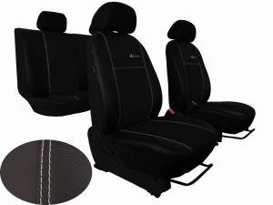 Autopotahy Škoda Fabia I, kožené EXCLUSIVE černé, nedělené zadní sedadla
