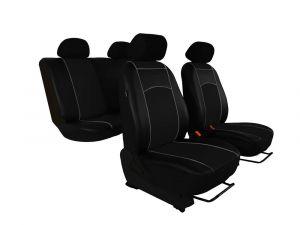 Autopotahy Škoda Fabia II, kožené Tuning černé, nedělené zadní sedadla