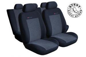 Autopotahy Seat Ibiza IV, DĚLENÁ, od r. 2008, šedo černé