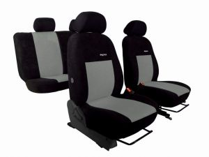Autopotahy Citroen C4 PICASSO II, od r. 2010, 5 míst ELEGANCE ALCANTARA černošedé