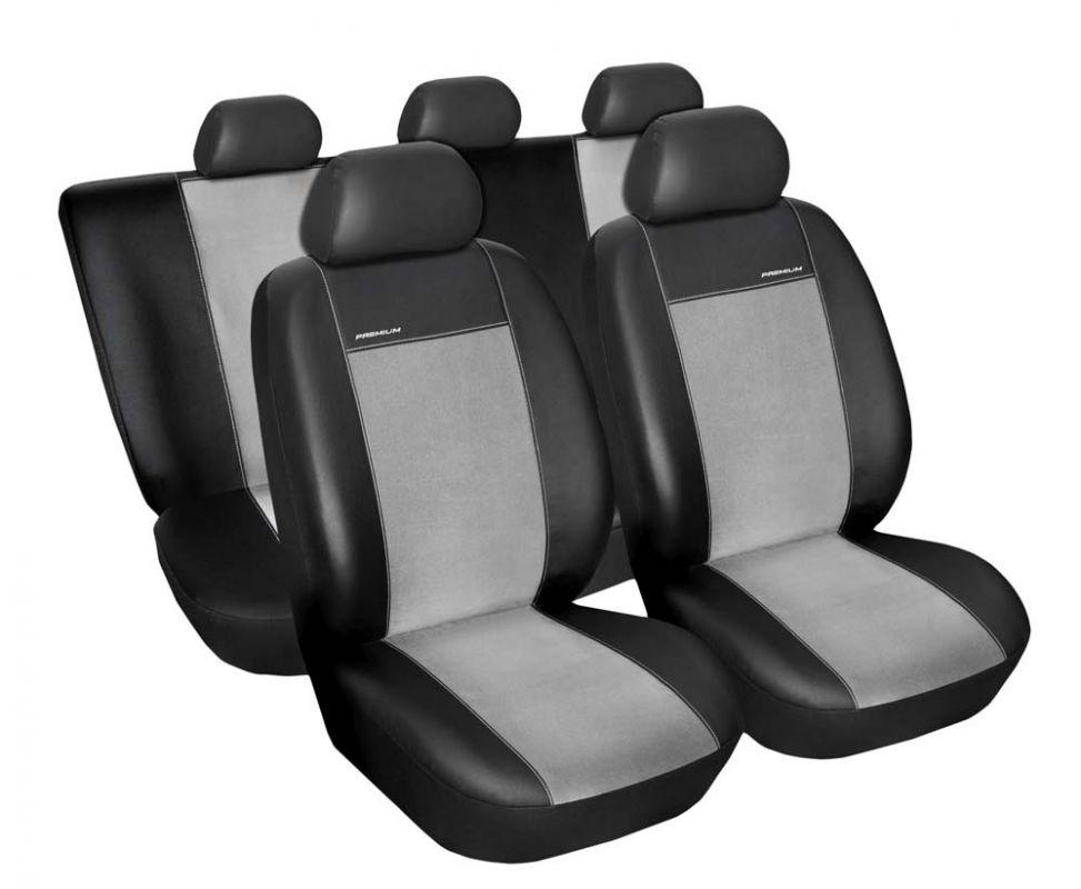 Autopotahy Seat Leon I, od r. 1999-2005, Eco kůže + alcantara šedé Vyrobeno v EU