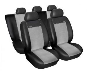 Autopotahy Seat Leon II, od r. 2005, Eco kůže + alcantara šedé Vyrobeno v EU