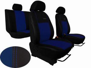 Autopotahy Dacia DUSTER I, od r. 2010-2013, dělené zad. opěradlo, kožené EXCLUSIVE modré