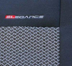 Autopotahy Citroen C1, 3 a 5 dveř, DĚLENÉ OPĚRADLO, od r. 2005, šedo černé Vyrobeno v EU