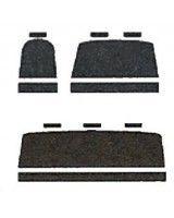 Autopotahy Volkswagen T4, 6 míst, 1+2+3, od r. 1990-2003, černé